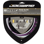 Jagwire Road Elite Link Brake Cable Kit SRAM/Shimano with Polished Ultra-Slick Cables, Limited Purple