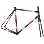 All-City Big Block Frameset - 700c, Steel, Midnight/Frost/Violet