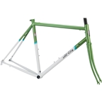 All-City Mr Pink Classic Frameset - 700c, Steel, Green and White