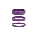 """Rant Stack Em 3/5/8mm Headset Spacers, 1-1/8"""", Purple"""