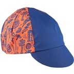 Salsa Gravel Stories Cycling Cap - Blue/Red, One Size