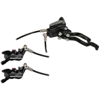 Hope Tech 3 E4 Duo Disc Brake and Lever - Left Hand, Front and Rear, Hydraulic, Post Mount, Black