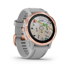 Garmin, fenix 6S, Sapphire, Watch, Watch Color: Rose, Wristband: Grey - Silicone