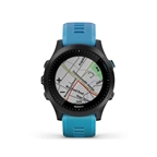 Garmin, Forerunner 945 Bundle, Watch, Watch Color: Black, Wristband: Blue - Silicone