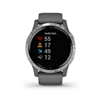 Garmin, vivoactive 4, Watch, Watch Color: Grey, Wristband: Grey - Silicone