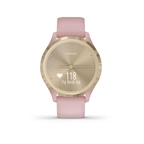 Garmin, vivomove 3S, Watch, Watch Color: Champagne, Wristband: Champagne - Silicone