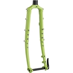 """Surly Disc Trucker Fork - 26"""", 1-1/8"""" Straight, 100x12 mm Thru-Axle, Steel, Disc, Pea Lime Soup"""