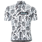 Salsa Team Gravel Story Jersey - Men's, White/Black