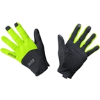 GORE C5 GORE-TEX INFINIUM Gloves - Black/Neon Yellow, Full Finger