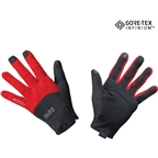 GORE C5 GORE-TEX INFINIUM Gloves - Black/Red, Full Finger