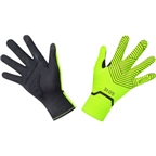 GORE C3 GORE-TEX INFINIUM Stretch Mid Gloves - Neon Yellow/Black, Full Finger