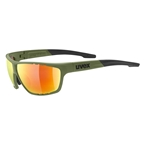 Uvex Sportstyle 706 Sunglasses, Green/Red