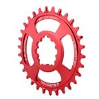 Burgtec GXP Boost 3mm Thick Thin Chainring, 30T - Race Red