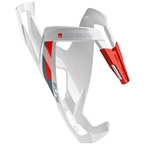 Elite Custom Race Plus Water Bottle Cage - Glossy White/Red