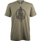 Surly Trail Snacks Men's T-Shirt - Military Green, Black
