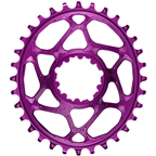 absoluteBLACK Oval Narrow-Wide Direct Mount Chainring - 28t, SRAM 3-Bolt Direct Mount, 3mm Offset, Purple
