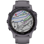 Garmin Fenix 6S Pro Solar GPS Watch - Women of Adventure, Amethyst w/ Gray Band