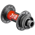 DT Swiss 240 Front Hub - 12 x 100mm, Center Lock, 24h, Black/Red