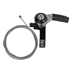 Sturmey-Archer SLS30-T Right Thumb Shifter with 1950mm Cable, 3 Speed, 22.2mm, Black/Silver