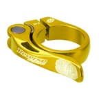 Reverse Long Life QR Seatpost Clamp, 34.9mm, Gold