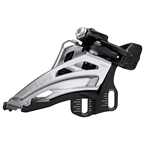 Shimano Deore FD-M4100-E Front Derailleur - 10-Speed, Double, Side Swing, Front Pull, E-Type Mount, Silver/Black