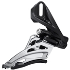 Shimano Deore FD-M5100-D Front Derailleur - 11-Speed, Double, Side Swing, Front Pull, Direct Mount, Black/Silver