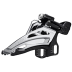 Shimano Deore FD-M5100-E Front Derailleur - 11-Speed, Double, Side Swing, Front Pull, E-Type Mount, Black/Silver