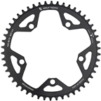 Wolf Tooth 130 BCD Road and Cyclocross Chainring - 50t, 130 BCD, 5-Bolt, Drop-Stop, 10/11/12-Speed Eagle and Flattop Compatible, Black