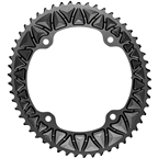 absoluteBLACK Premium Oval 145 BCD Road Outer Chainring for Campagnolo - 53t, 145 BCD, 4-Bolt, Black