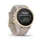 Garmin fenix 6S Pro Solar Watch, Light Gold/Sandstone