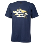All City Men's Fly High T-Shirt - Navy, Gold