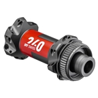 DT Swiss 240 Front Hub - 12 x 100mm, Center Lock, straight Pull, 24h, Black/Red