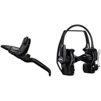 Magura HS22 Linear Pull Brake and Lever - Front or Rear, 3-Finger Lever Blade, Easy Mount, Black