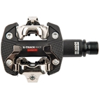 LOOK X-TRACK RACE CARBON Pedals - Dual Sided Clipless Chromoly 9/16 Black