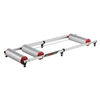 Minoura Live Roll R500 Adjustable Rollers, Silver/Red