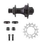 "Black Ops MX-3200 Rear BMX Hub with 16T Cog and Lockring, 3/8"" Bolt-On, 36H, Black"