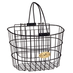 Nantucket Bike Basket, Surfside Wire D Basket W/ Lid, Black