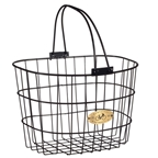 Nantucket Bike Basket, Surfside Wire D Basket, Black