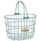 Nantucket Bike Basket, Surfside Wire D Basket, Turquoise