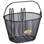 Nantucket Bike Basket, Surfside Child Mesh Basket, Charcoal Grey