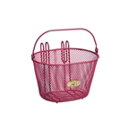 Nantucket Bike Basket, Surfside Child Mesh Basket, Pink
