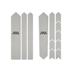 All Mountain Style Extra Gravel/Road Frame Guard, Clear/Silver