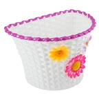 Sunlite Classic Flower Basket with Straps, White/Pink