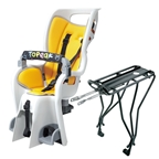 "Topeak BabySeat II W/ 26-29"" Disc Model Rack, Grey/Orange"