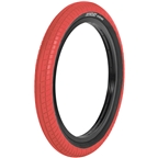 """Sunday Street Sweeper Tire - 20 x 2.4"""", Clincher, Wire, Red/Black"""