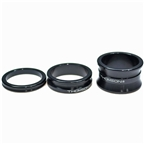 "Thomson Aluminum Headset Spacer Pack, 1-1/8"" Bag of 3, Black"