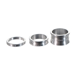 """Thomson Aluminum Headset Spacer Pack, 1-1/8"""" Bag of 3, Silver"""