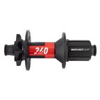 DT Swiss 240 MTB Rear Hub, 12TA x 148mm, 8-11s Cass Ratchet EXP, 6-Bolt, 28H, Black