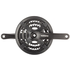 Shimano Tourney FC-TY501 Crankset - 175mm, 6/7/8-Speed, 48/38/28t, Riveted, Square Taper JIS Spindle Interface, Black