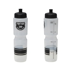 Soma Further 38oz Auto Valve Water Bottle, Clear/Black